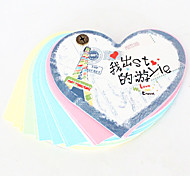 Heart Shaped Travel Plans Note Pads(Random Colors)