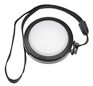 MENNON 37mm Camera White Balance Lens Cap Cover with Hand Strap (Black & White)