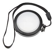 Mennon 37mm lente de la cámara Balance de blancos Tapa con correa de mano (Negro y Blanco)