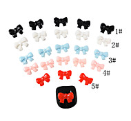 yemannvyou®20pcs 3d decorações dedo resina unhas bowknot 7 * 9 (cores sortidas)