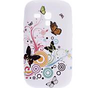 Butterfly Elegante Patrón Soft Case para Samsung Galaxy S3 Mini I8910