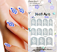 3PCS Mixed-style Paper Nail Art Image Stamp Stickers LK Series No.23