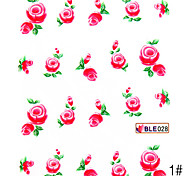 3PCS Water Transfer Printing Nail Stickers NO.10(Assorted Colors)