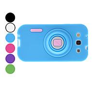 Camera Design Soft Case for Samsung Galaxy S3 I9300 (Assorted Colors)