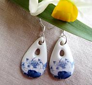 Drop EarringsJewelry Blue Ceramic Party / Daily