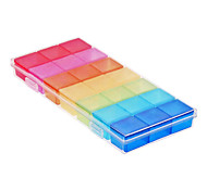 Rainbow 21-Lattice 7 Days Pill Case