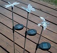 Borboleta Libélula em forma de pássaro Solar Powered Cor Jardim Luz Mudar (estilo aleatório)