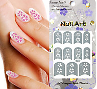 3PCS Mixed-style Paper Nail Art Image Stamp Stickers LK Series No.28