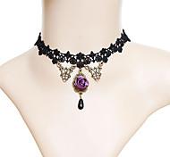 Женский Ожерелья-бархатки Винтаж Ожерелья Ткань Мода Бижутерия Назначение Для вечеринок