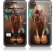 Cartoon Girl Pattern Front and Back Full Body Protector Stickers for iPhone 5