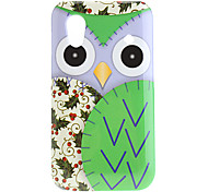 Green Owl Pattern Hard Case voor Samsung Galaxy Ace S5830