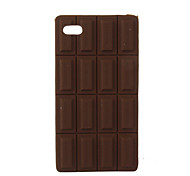 Etui en Silicone Style Tablette de Chocolat pour iPhone 4