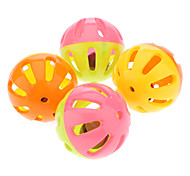 Colorful Plastic Lovely Bell Ball for Pets Dogs (4-Piece)