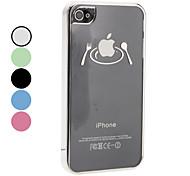Schüssel und Ess-Stäbchen-Muster Hard Case für iPhone 4/4S (verschiedene Farben)