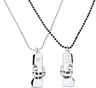 Z&X®  1-Pair Couples Necklace