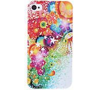 Colorful Flower Pattern Housse de protection rigide pour iPhone 4/4S