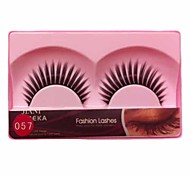 1 Pair Black Machine Made False Eyelashes YBK057