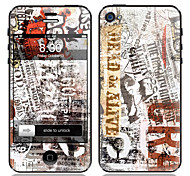 Newspaper Pattern Front and Back Screen Protector Film for iPhone 4/4S