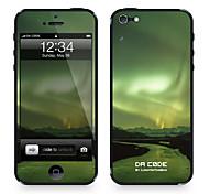 """Codice Da ™ Pelle per iPhone 4/4S: """"Aurora Borealis, Northern Lights"""" (Universe Series)"""