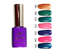 Colorful Glitter UV UV color de esmalte de uñas del gel del constructor No.4 (15 ml, colores 1pcs, surtidos)