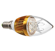 3W E14 Luces LED en Vela C35 3 LED de Alta Potencia 270 lm Blanco Cálido Decorativa / Regulable AC 100-240 V