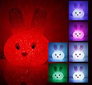 Lapin en cristal couleur en forme de lumière changeante Nuit à LED (USB)