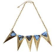 The Solid Triangle Irregular Pattern Necklace