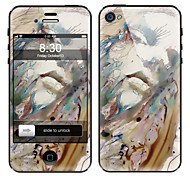 Abstract Painting Design Front and Back Screen Protector Film for iPhone 4/4S