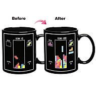 Magic Color Changing Toy Bricks Pattern Ceramic Cup Mug