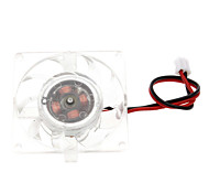 Blanc Ventilateur de refroidissement en plastique PC châssis (4cm) ECS003243