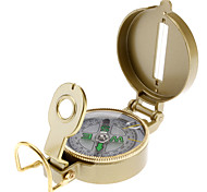 Cool Retro Gold Color Lensatic Compass (Gold)