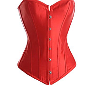 Red Satin Punk Lolita Corset