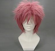 Косплэй парики Фейри Тейл Natsu Dragneel Розовый Короткие платья Аниме Косплэй парики 32 CM Термостойкое волокно Мужской