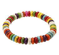 Lovely Candy Style Abacus Shape Colored Glaze Bracelace