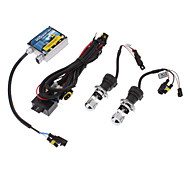 12V 35W H4-3 High / Low BeamHID lâmpada Xenon Conversion Kit Set (Thick Ballast)