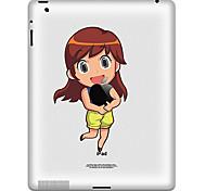 Patrón muchacha pegatina protectora para el iPad 1, iPad 2, iPad 3 y el nuevo iPad