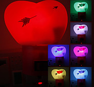 Sweet Heart Shaped Color Changing LED Night Light (220V)