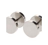 Tondo 10 mm in acciaio inox Orecchini (Silver)