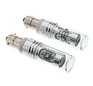 BAX9S 12W White Light Cree LED Bulb for Car Brake/Reversing Lamp (DC 12-24V, 1-Pair)