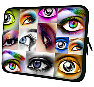 """Colourful Eyes""Pattern Nylon Material Waterproof Sleeve Case for 11""/13""/15"" Laptop&Tablet"