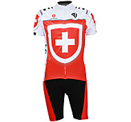 KOOPLUS Men's Cycling Suits Short Sleeve Bike Breathable / Waterproof Zipper / Front Zipper / Wearable WhiteS / M / L / XL / XXL / XXXL /