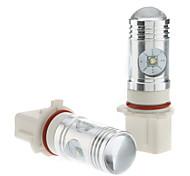 P13W 12W White Light Cree LED Bulb for Car Fog Lamp (DC 12-24V, 1-Pair)
