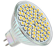 GU5.3 3 W 60 SMD 3528 250 LM Warm White MR16 Spot Lights DC 12 V