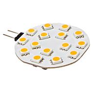 G4 3W 15 SMD 5050 210 LM Warm wit 2-pins LED-lampen DC 12 V