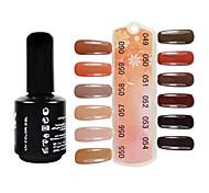 UV Color Gel Soak Off Nail Polish(15ml,Assorted Colors,No.49-60)