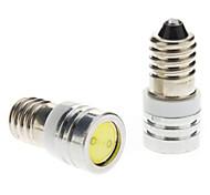 E10 luz blanca de 1W bulbo de Instrumento / Side Car Luces de posición (DC 12V, 1 par) LED