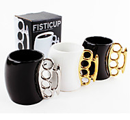 Fisticup 4-Hole Handle Ceramic Cup (Random Color)
