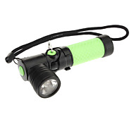 LED Flashlights / Handheld Flashlights LED 3 Mode 200 Lumens Anglehead / Rechargeable / Tactical / Self-Defense Cree XR-E Q5 AA