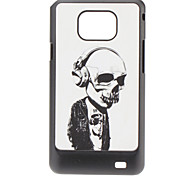 Earphone Pattern Hard Case for Samsung Galaxy S2 I9100