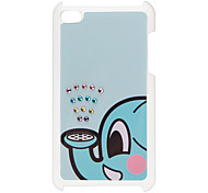 Blue Elephant Pattern Hard Case with Rhinestone for iPod Touch 4